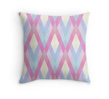 Pastel Diamonds 001/1 Throw Pillow