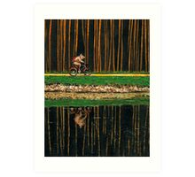 PIG - THE BICYCLE RIDE Art Print