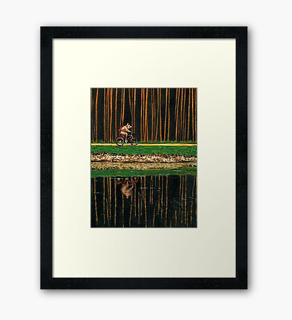 PIG - THE BICYCLE RIDE Framed Print