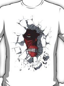 Red Peeking Monster T-Shirt