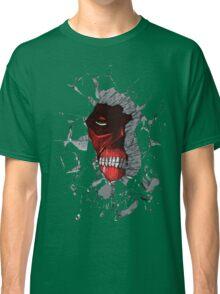 Red Peeking Monster Classic T-Shirt