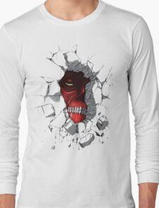 Red Peeking Monster Long Sleeve T-Shirt