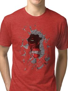 Red Peeking Monster Tri-blend T-Shirt
