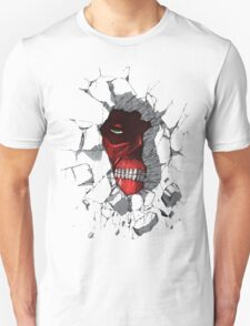 Red Peeking Monster Unisex T-Shirt