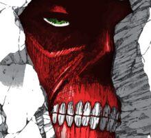 Red Peeking Monster Sticker