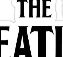 The Heatles in Black Sticker