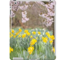 Cherry orchard and daffodils iPad Case/Skin