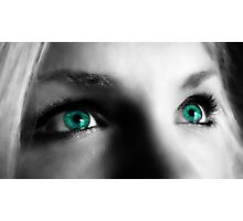 The Girl with the Turquoise Eyes  Photographic Print