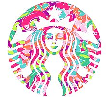 Starbucks Logo Flamingos Lilly Pulitzer Lulu by Seaweed4
