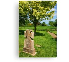 In An English Country Churchyard Canvas Print