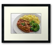 Basque Chicken In A Spicy Vegetable Sauce Framed Print