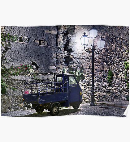 Three wheeler at night Poster