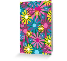 Funky Flowers Card Greeting Card