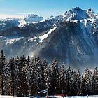Panoramic vista - Wagrain, Austria by Jonathon Speed