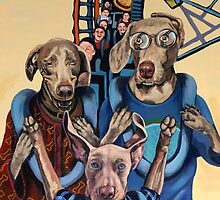 American Dogs on a Rollercoaster by tomAartist