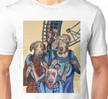 American Dogs on a Rollercoaster Unisex T-Shirt