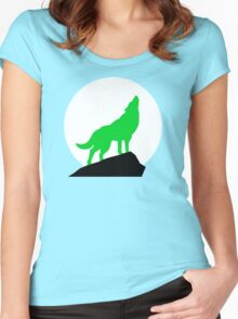 Green Wolf Women's Fitted Scoop T-Shirt