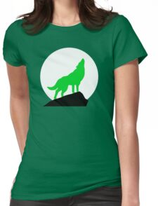 Green Wolf Womens Fitted T-Shirt