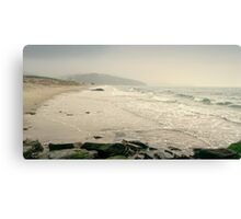 Winter Days at Pentewan Beach,Cornwall Canvas Print