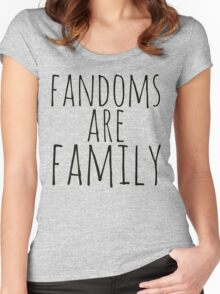 fandoms are family Women's Fitted Scoop T-Shirt
