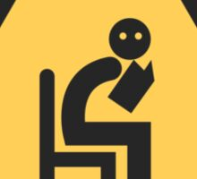 Caution Introvert Sign Sticker