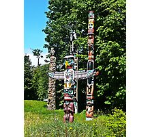 Totems Stanley Park Vancouver Photographic Print