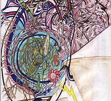 trails through the vortex by Calista