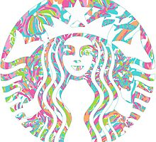 Starbucks Logo Lilly Pulitzer Scuba to Cuba Jellyfish Sea by Seaweed4