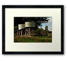 Water Tanks, Macendon Ranges Framed Print