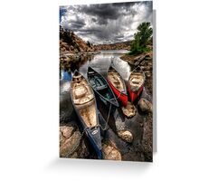 Canoe Break 2 Greeting Card