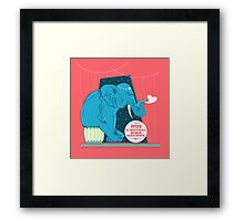 Not a natural born performer Framed Print