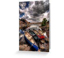 Canoe Break 3 Greeting Card