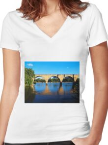 Stone Arch Reflections Women's Fitted V-Neck T-Shirt