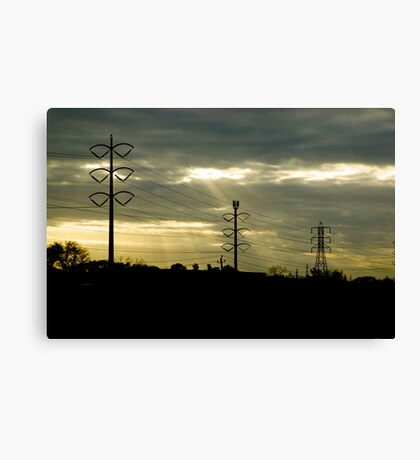Telephone Wires Canvas Print