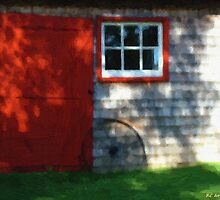 Old Barn, New Paint by RC deWinter