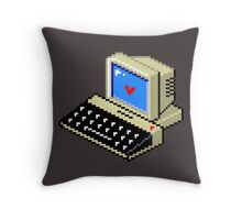 8 BIT Computer - Love Heart Throw Pillow