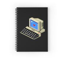 8 BIT Computer - Love Heart Spiral Notebook