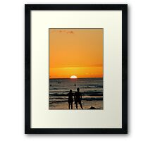 Sunset worship Framed Print