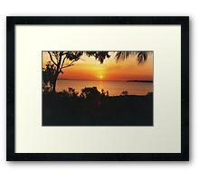 Sunset at Fanny Bay. Darwin Framed Print