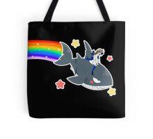 Wadanohara and the Great Blue Sea - Wadanohara and Samekichi riding the Rainbow Tote Bag