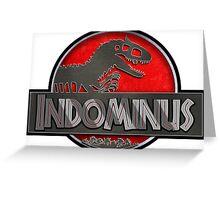 Indominus Rex Jurassic Park 3 style logo Greeting Card