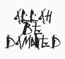 Allah Be Damned–style 2 (Light background) by atheistcards