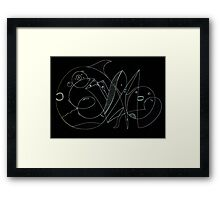 Carry the weight Framed Print