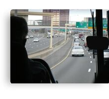 Traveling on a Highway Canvas Print
