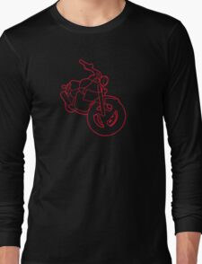 Red Glowing Cruiser Long Sleeve T-Shirt