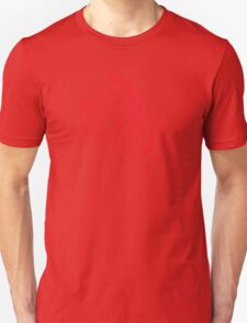 Red Glowing Cruiser Unisex T-Shirt