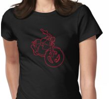 Red Glowing Cruiser Womens Fitted T-Shirt