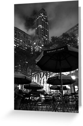 Bryant Park at night by Nacho Garcés