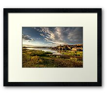 Willow Lake Green Framed Print