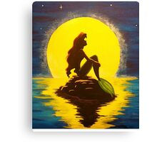 The Little Mermaid Disney - Ariel and the Moon Canvas Print